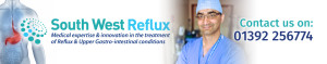 South West Reflux, Exeter, Devon website Main Top Header - Contact us on 01392 256774