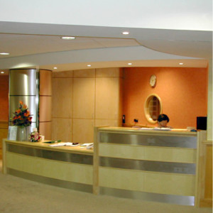 The Nuffield Exeter reception area for South West Reflux private patients